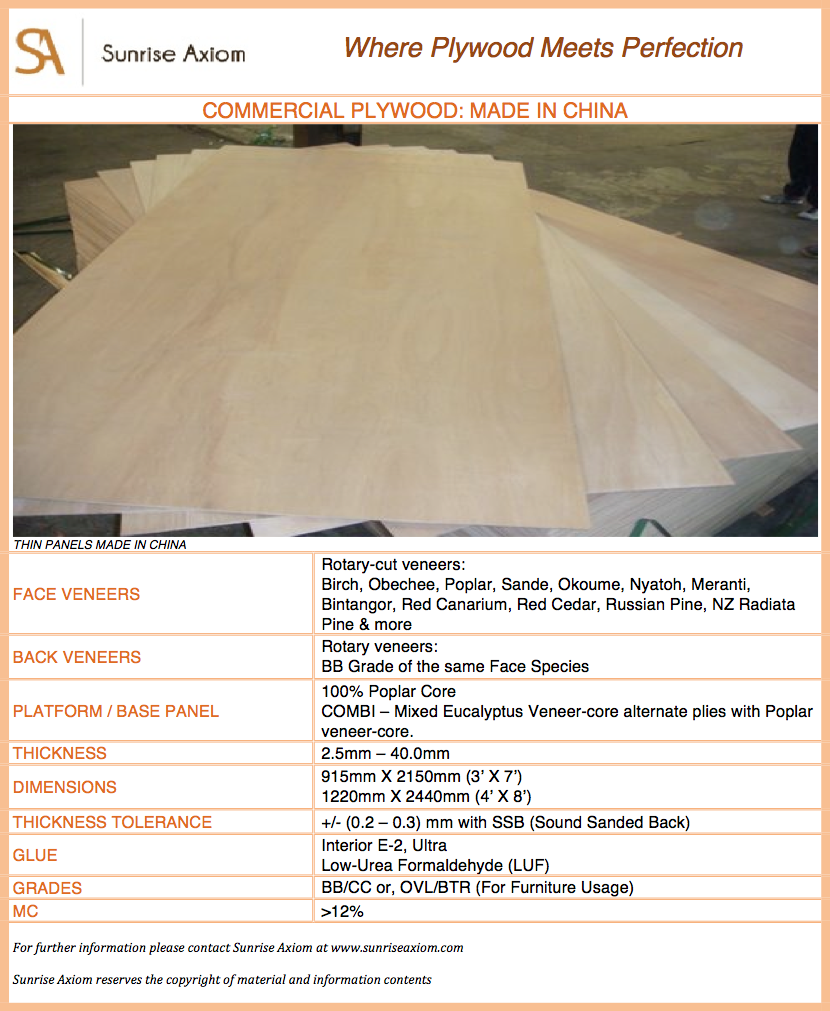 Commercial Plywood - China